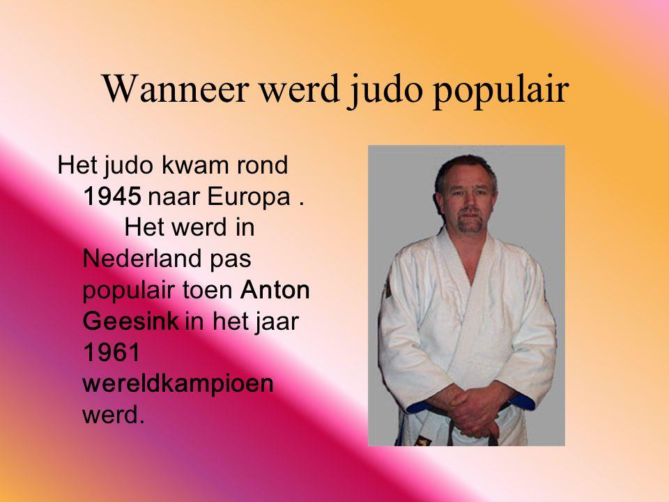 Wanneer werd judo populair