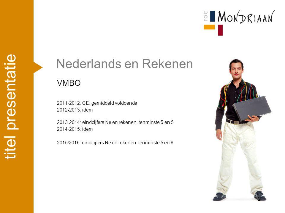 titel presentatie Nederlands en Rekenen VMBO april '17
