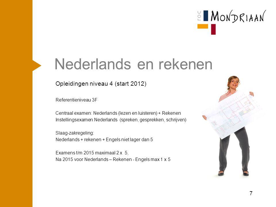Nederlands en rekenen Opleidingen niveau 4 (start 2012) april '17