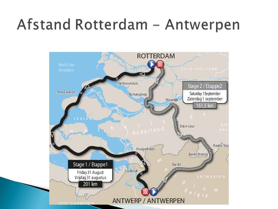 Afstand Rotterdam - Antwerpen