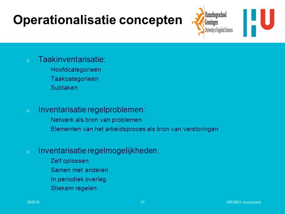 Operationalisatie concepten