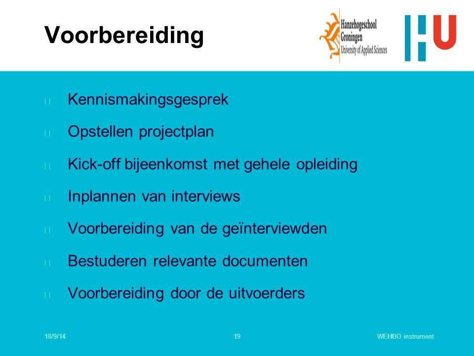 Voorbereiding Kennismakingsgesprek Opstellen projectplan