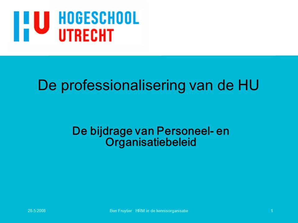 De professionalisering van de HU