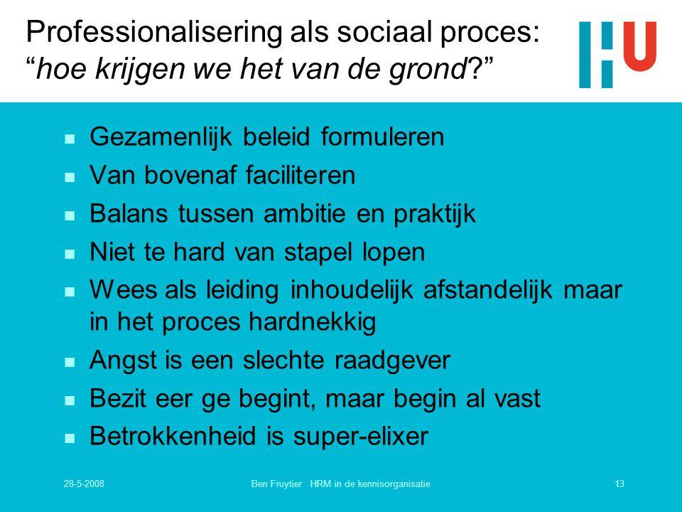 Ben Fruytier HRM in de kennisorganisatie