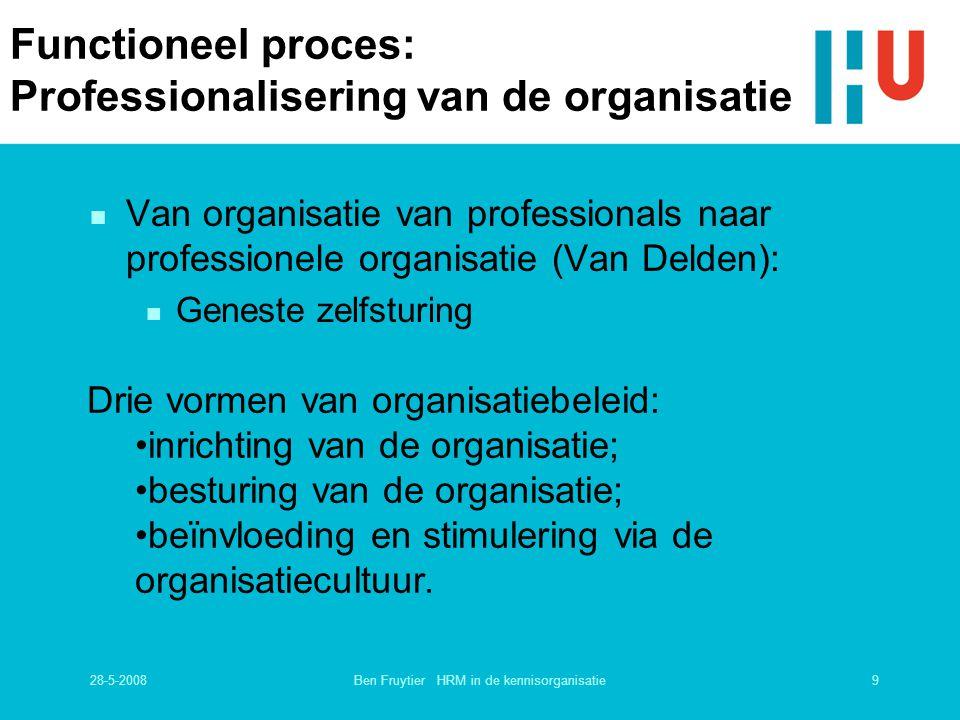 Functioneel proces: Professionalisering van de organisatie