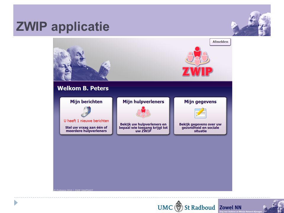 ZWIP applicatie