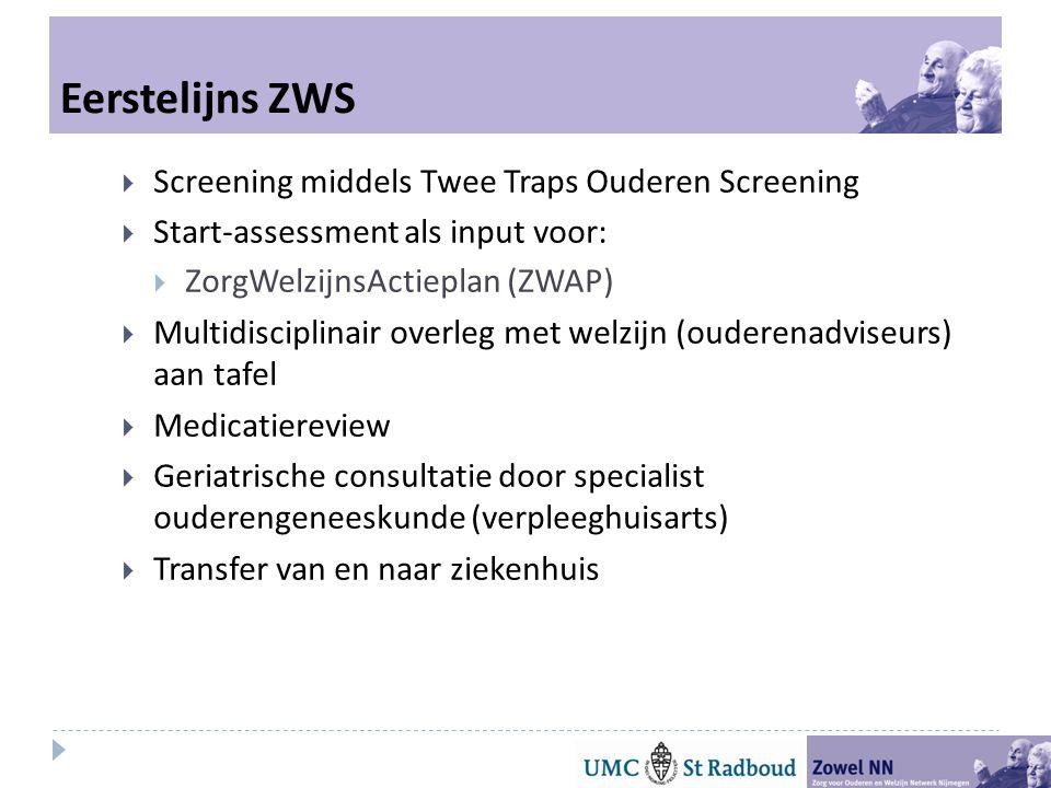 Eerstelijns ZWS Screening middels Twee Traps Ouderen Screening