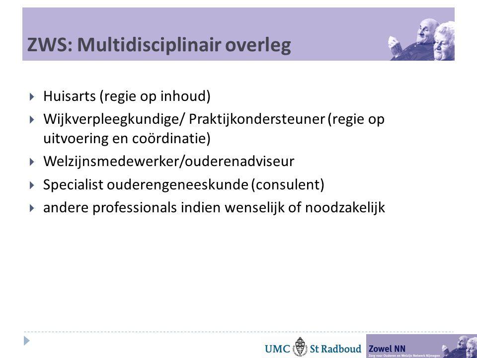 ZWS: Multidisciplinair overleg