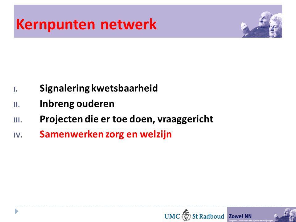 Kernpunten netwerk Signalering kwetsbaarheid Inbreng ouderen