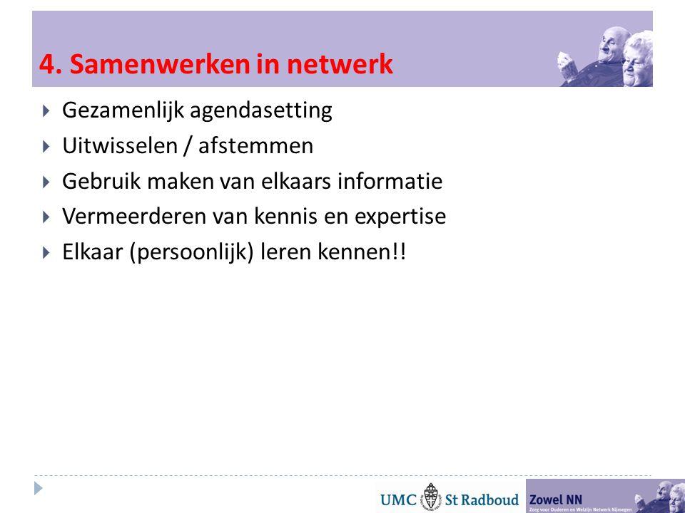 4. Samenwerken in netwerk