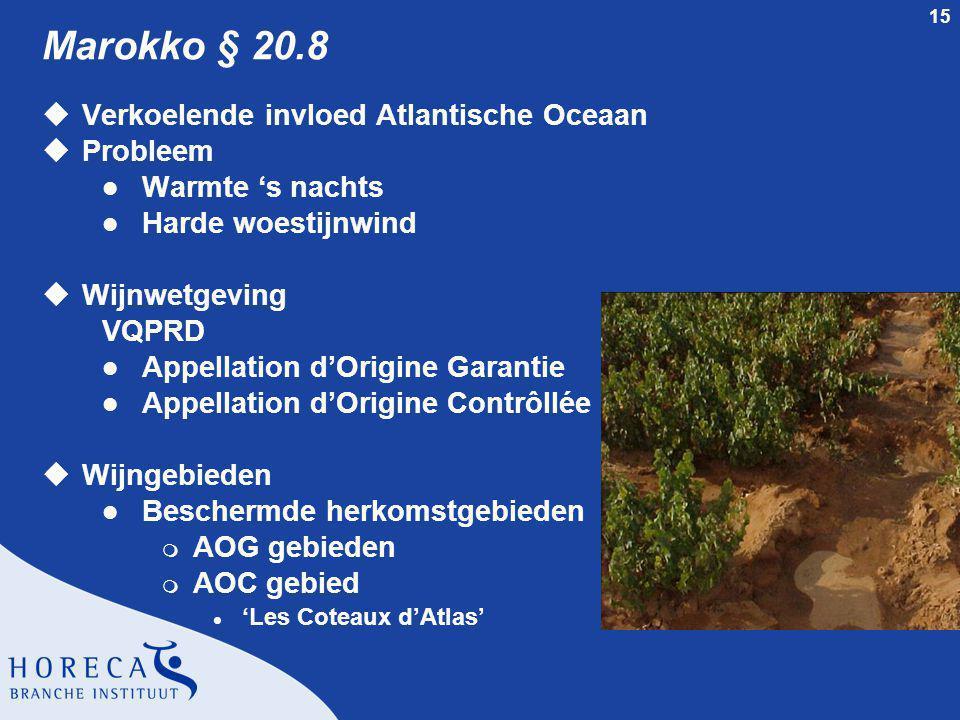 Marokko § 20.8 Verkoelende invloed Atlantische Oceaan Probleem