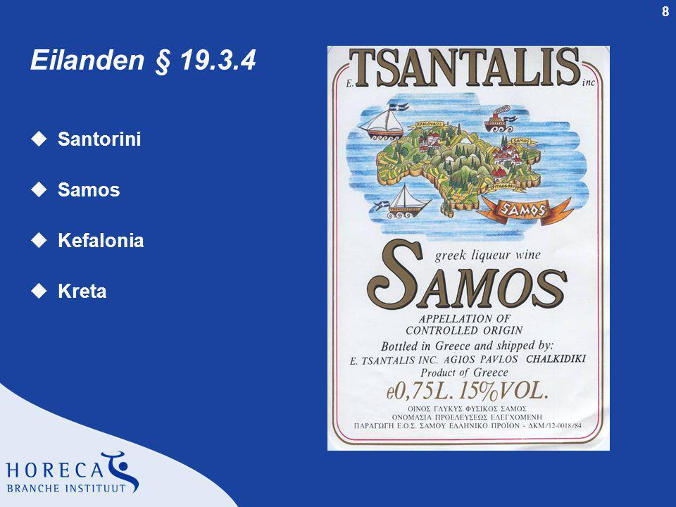 Eilanden § 19.3.4 Santorini Samos Kefalonia Kreta