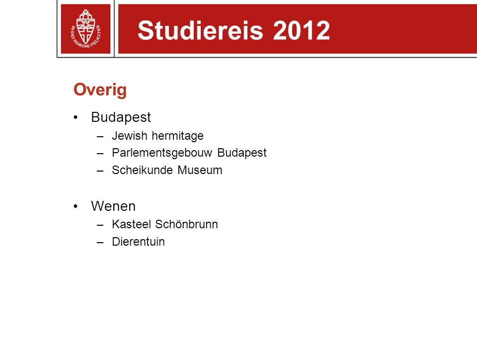 Studiereis 2012 Overig Budapest Wenen Jewish hermitage