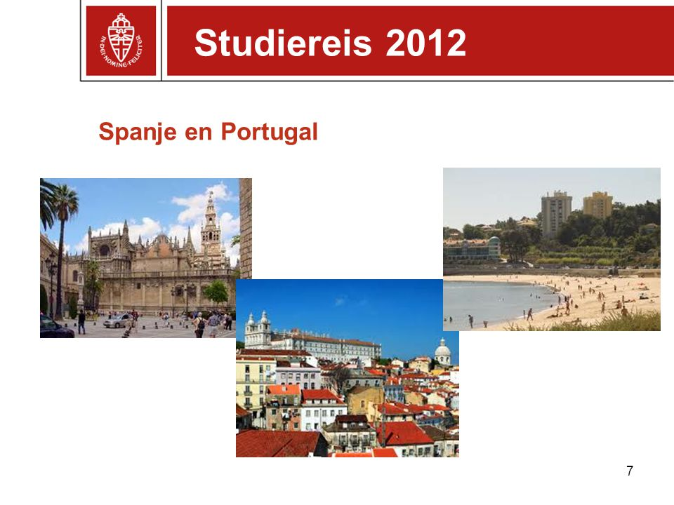 Studiereis 2012 Spanje en Portugal