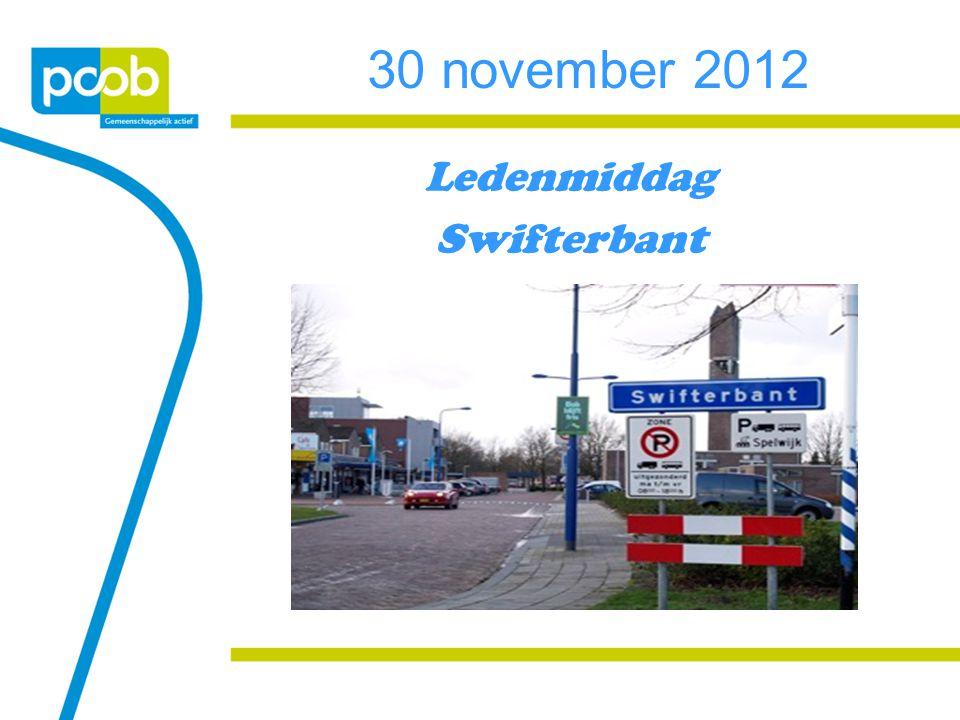 30 november 2012 Ledenmiddag Swifterbant
