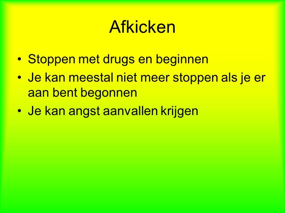 Afkicken Stoppen met drugs en beginnen