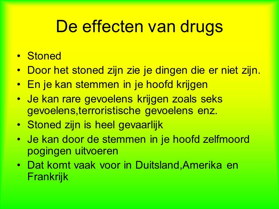 De effecten van drugs Stoned
