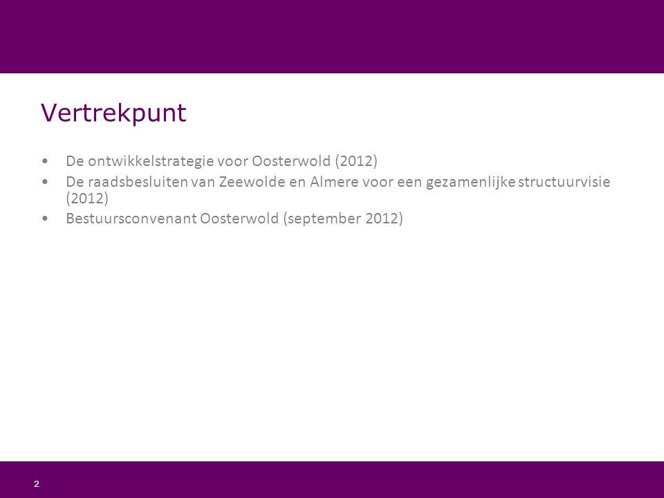 Vertrekpunt De ontwikkelstrategie voor Oosterwold (2012)