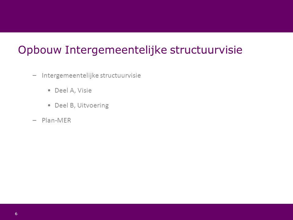 Opbouw Intergemeentelijke structuurvisie