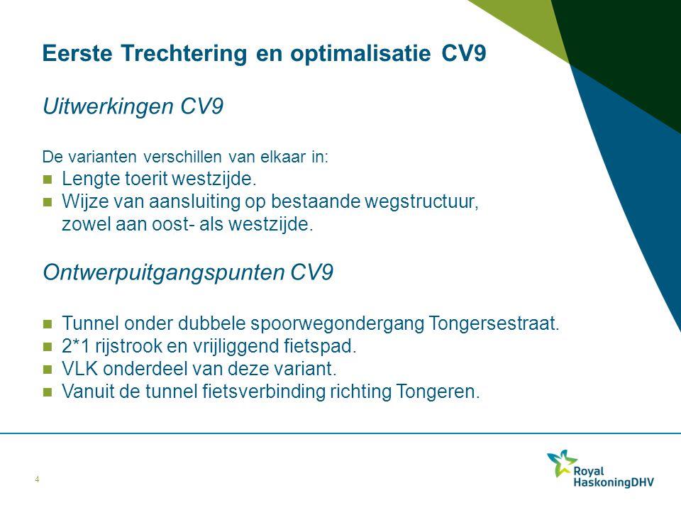 Eerste Trechtering en optimalisatie CV9