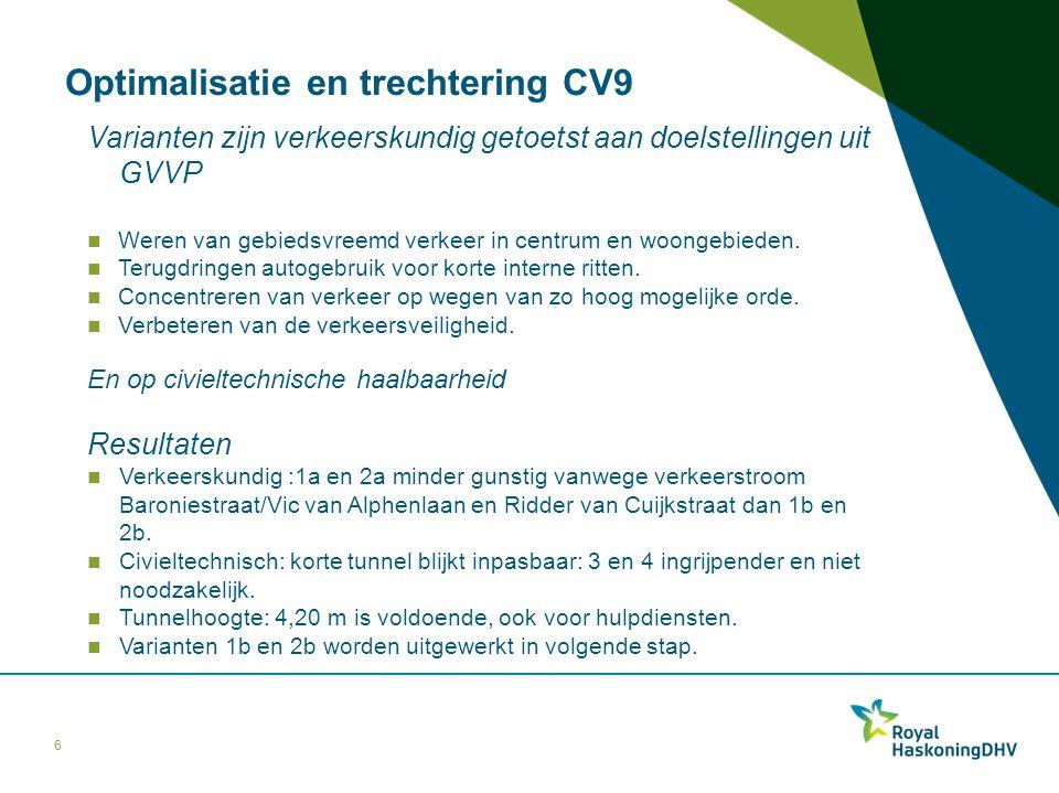 Optimalisatie en trechtering CV9