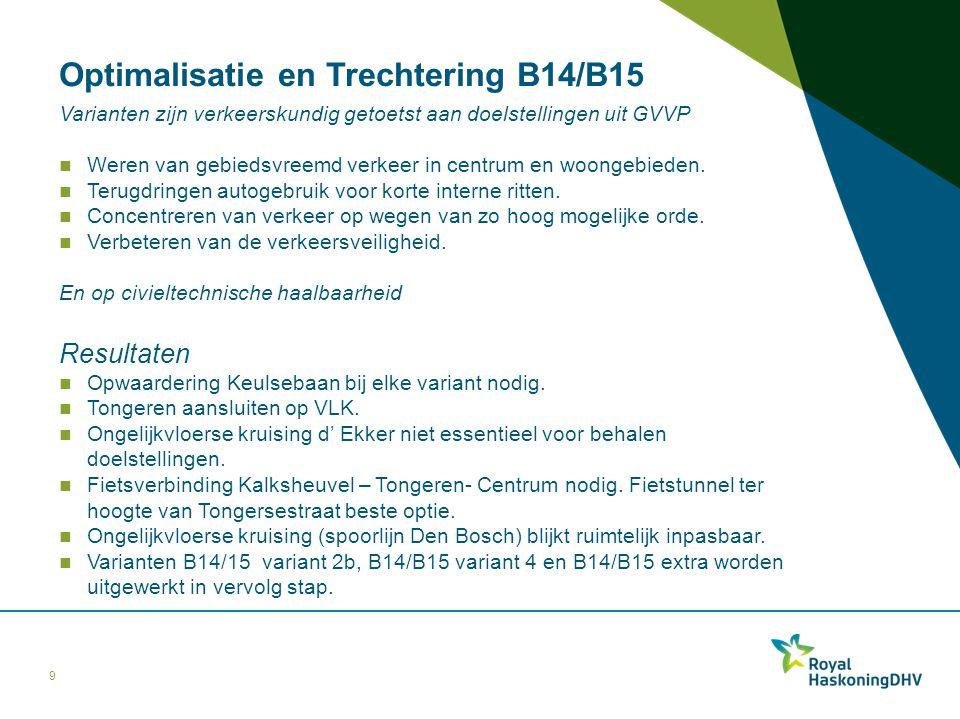 Optimalisatie en Trechtering B14/B15