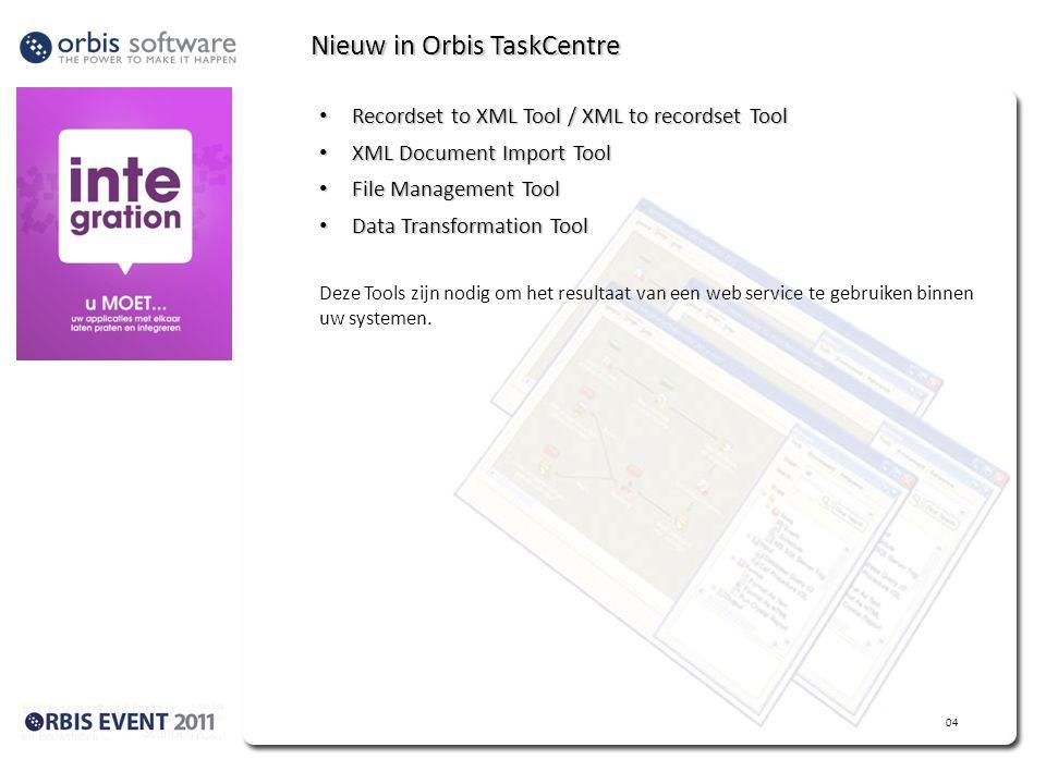 Nieuw in Orbis TaskCentre