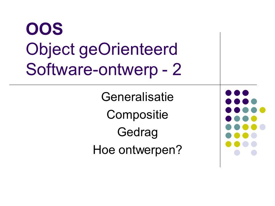 OOS Object geOrienteerd Software-ontwerp - 2