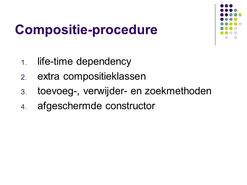 Compositie-procedure
