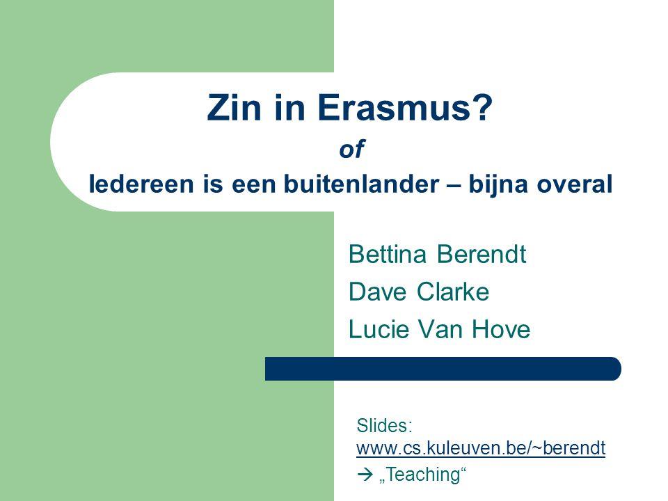 Zin in Erasmus of Iedereen is een buitenlander – bijna overal