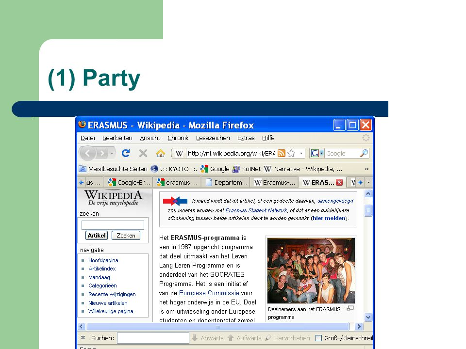 (1) Party