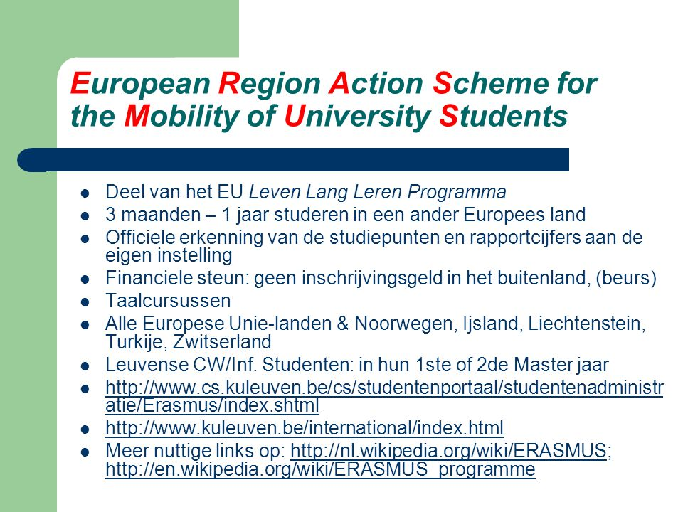 European Region Action Scheme for the Mobility of University Students