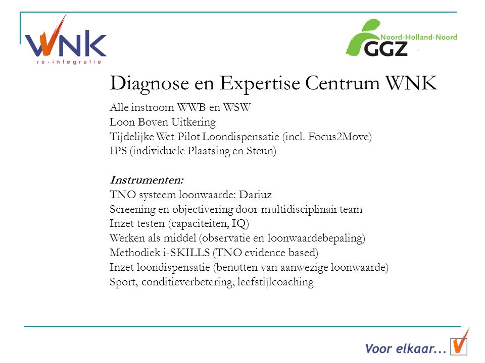 Diagnose en Expertise Centrum WNK