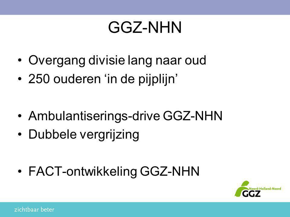 GGZ-NHN Overgang divisie lang naar oud 250 ouderen 'in de pijplijn'