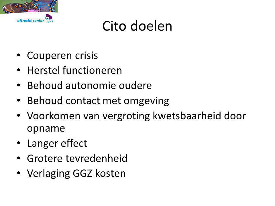 Cito doelen Couperen crisis Herstel functioneren