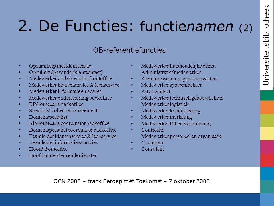 2. De Functies: functienamen (2)