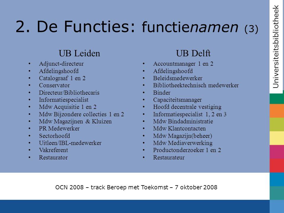 2. De Functies: functienamen (3)