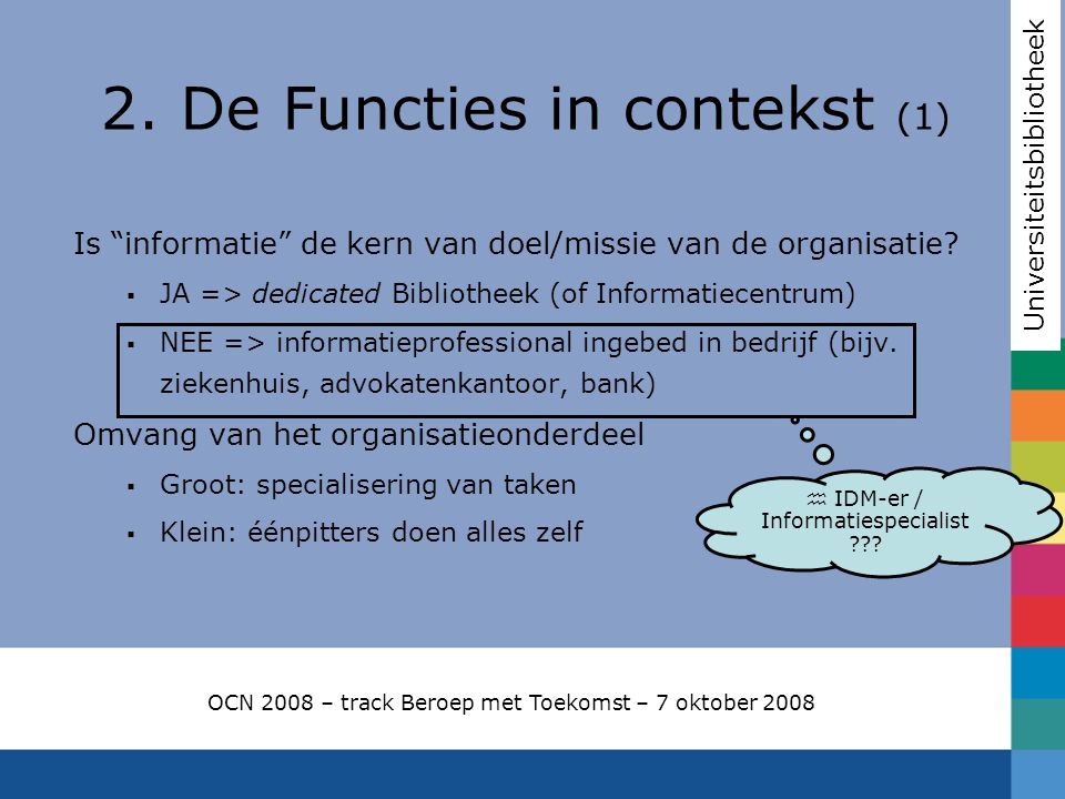 2. De Functies in contekst (1)