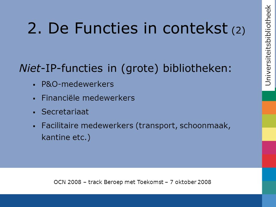 2. De Functies in contekst (2)