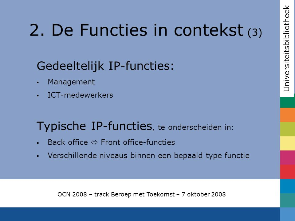 2. De Functies in contekst (3)