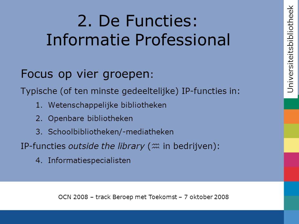 2. De Functies: Informatie Professional