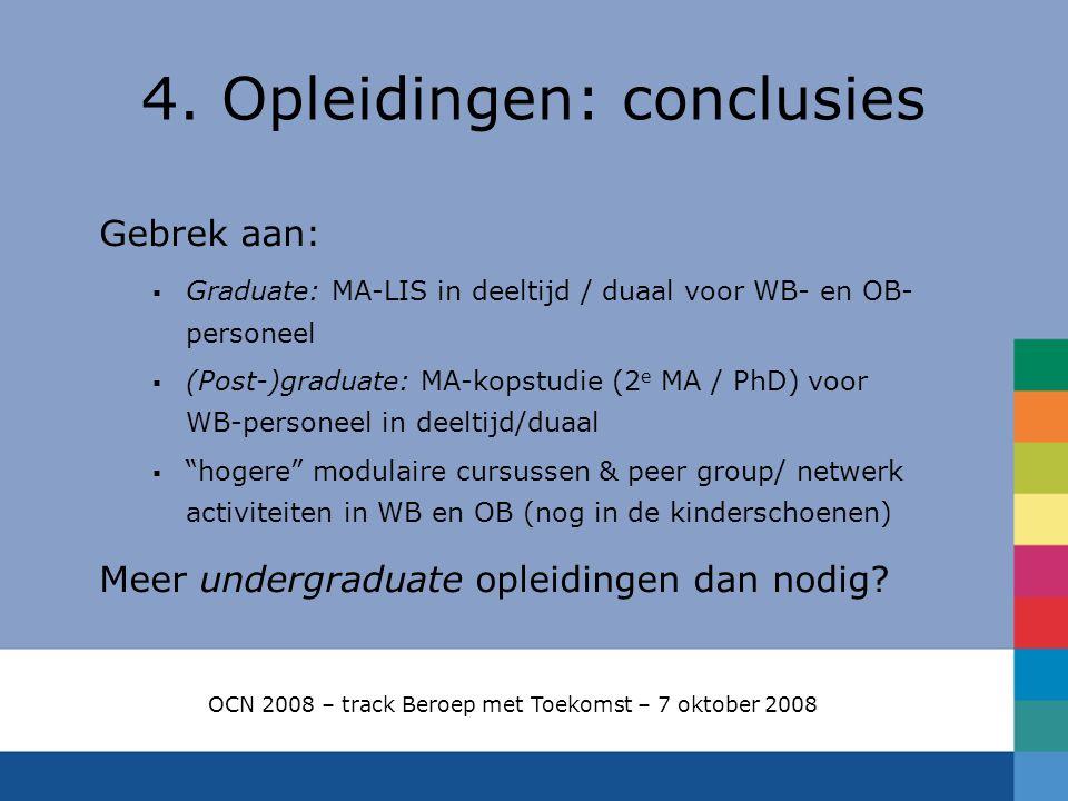 4. Opleidingen: conclusies