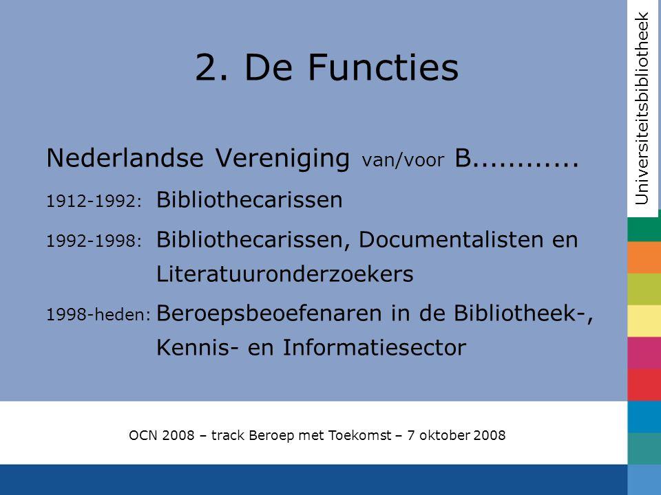 2. De Functies Nederlandse Vereniging van/voor B............