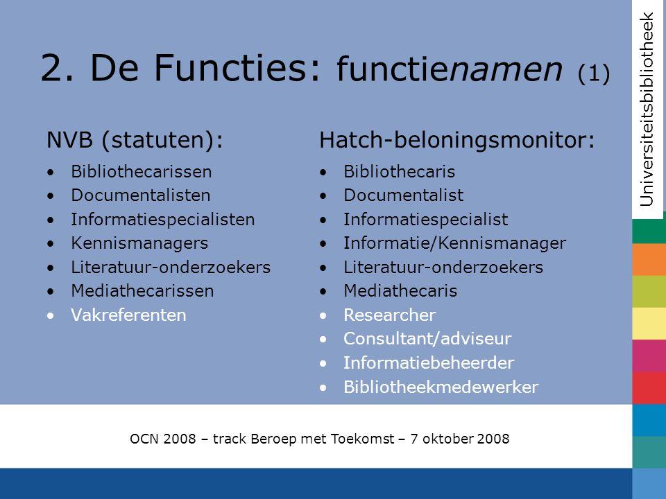 2. De Functies: functienamen (1)