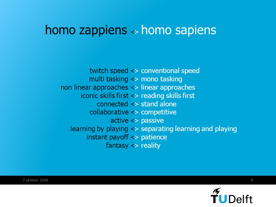 homo zappiens < twitch speed < multi tasking <