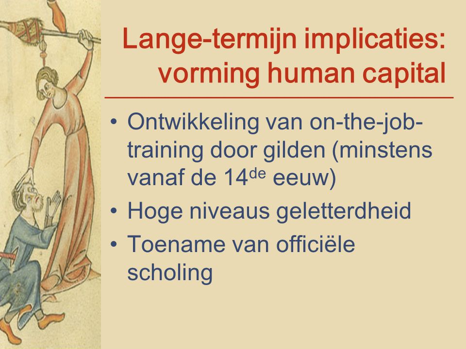 Lange-termijn implicaties: vorming human capital