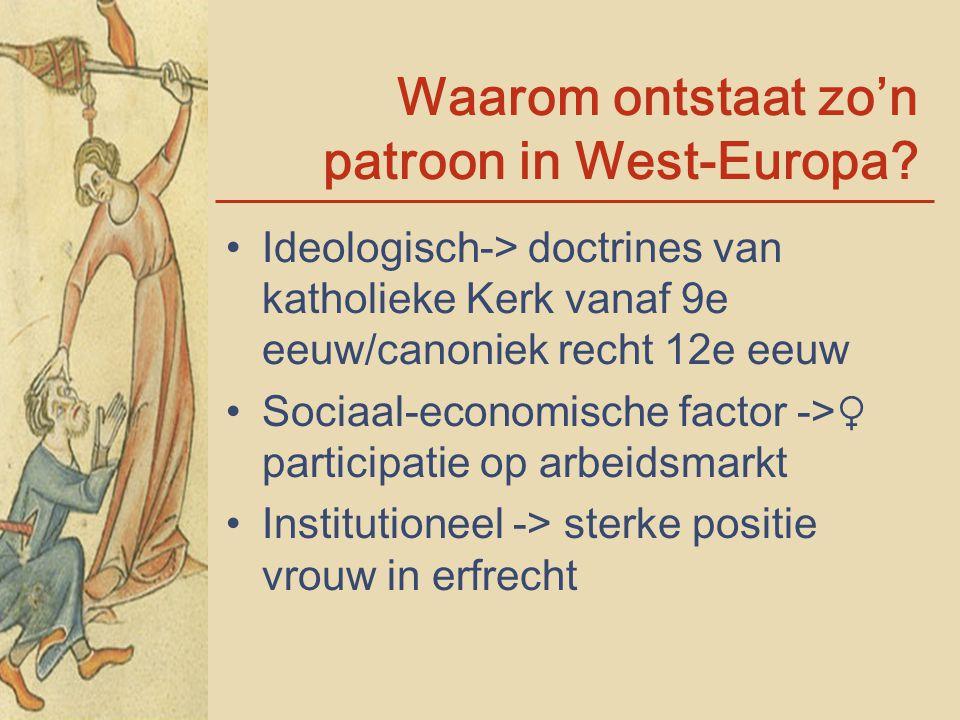 Waarom ontstaat zo'n patroon in West-Europa