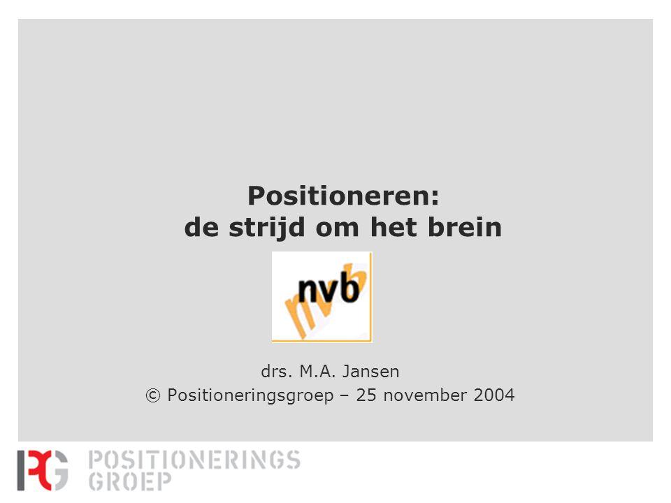 Positioneren: de strijd om het brein