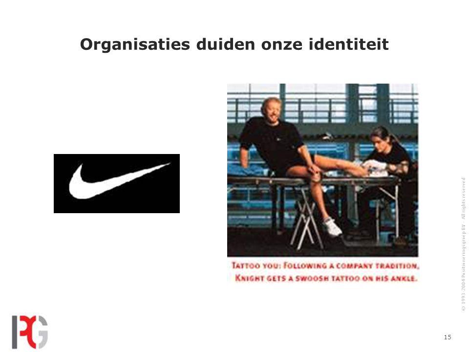 Organisaties duiden onze identiteit