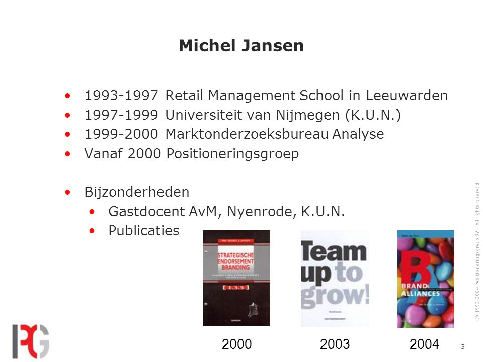 Michel Jansen 1993-1997 Retail Management School in Leeuwarden